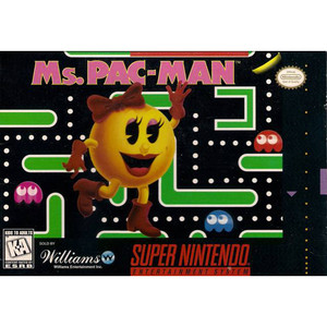 Ms. Pac-Man - SNES box front