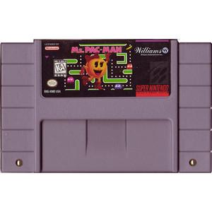 Ms. Pac-Man - SNES Cartridge
