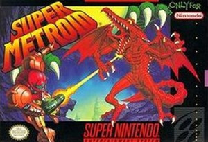 Super Metroid - SNES Box Cover Art