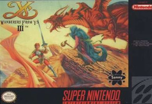 Wanderers From Ys III - SNES Game
