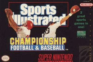Sports Illustrated Football Baseball - SNES Game
