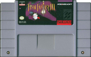 Final Fantasy III Super Nintendo SNES Game for sale rpg cartridge pic.