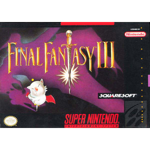 Final Fantasy III  Super Nintendo SNES Game for sale rpg box pic.