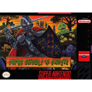 Super Ghouls n Ghosts - Super Nintendo original SNES game cartridge for sale.