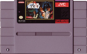 Super Star Wars Super Nintendo SNES game for sale, cartridge pic.