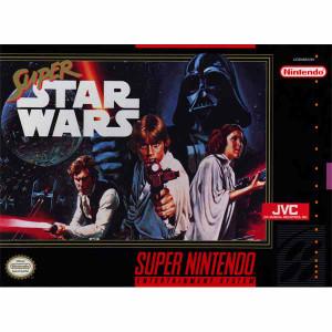 Super Star Wars Super Nintendo SNES game for sale, box pic.