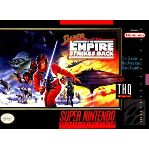 Super Empire Strikes Back Super Nintendo SNES video games for sale , box pic.