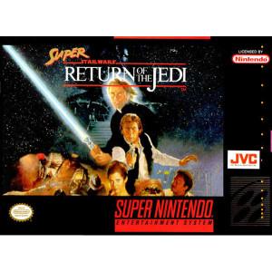 Super Return of the Jedi Super Nintendo SNES video game for sale , box pic.