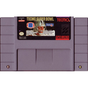 Tecmo Super Bowl - SNES Game Cartridge
