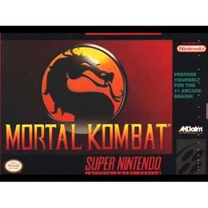 Mortal Kombat - SNES box front cover