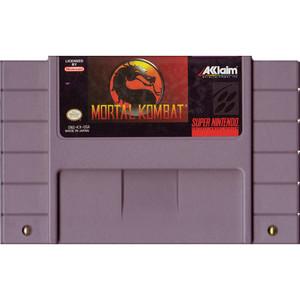 Mortal Kombat - SNES Game Cartridge
