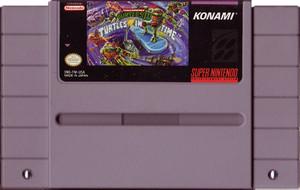 Teenage Mutant Ninja Turtles IV Turtles in Time - SNES Game Cartridge
