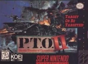 P.T.O. II (2) - SNES Game