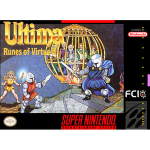 Ultima Runes of Virtue 2 - SNES Game