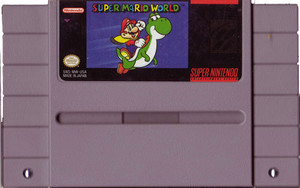 Super Mario World - SNES Game Cartridge
