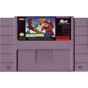 Mario's Early Years Fun With Numbers - SNES Game
