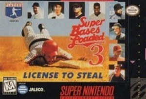 Super Bases Loaded 3 License To Steal - SNES Game