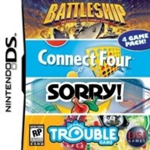 Battleship Connect Four Sorry! Trouble - DS Game