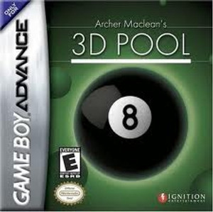 Archer Maclean's 3d Pool - Game Boy Advance