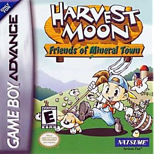 Harvest Moon Friends of Mineral Town - Game Boy Advance Game