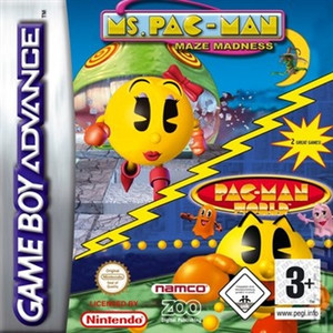 Ms. Pac-Man Maze Madness / Pac-Man World - Game Boy Advance