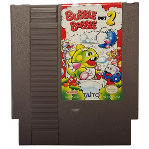 Bubble Bobble Part 2 - NES Game Cartridge