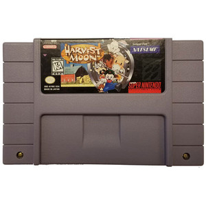 Harvest Moon - SNES Game Cartridge