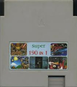 Super 190 in 1 Cartridge - NES Game