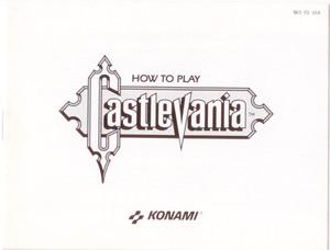 Castlevania - NES Manual