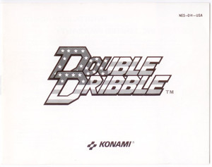 Manual Double Dribble Basketball Nintendo NES Instructions