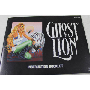 Ghost Lion Manual For Nintendo NES