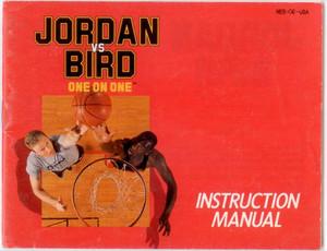 Jordan Vs. Bird One on One Basketball - NES Manual