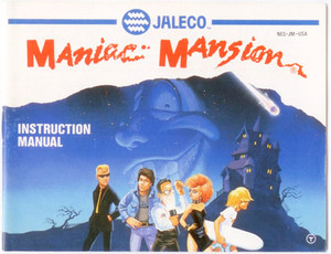 Maniac Mansion - NES Manual