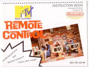 MTV Remote Control - NES Manual