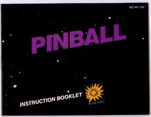 Pinball - NES Manual