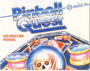 Pinball Quest - NES Manual