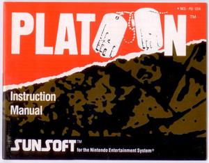 Platoon - NES Manual