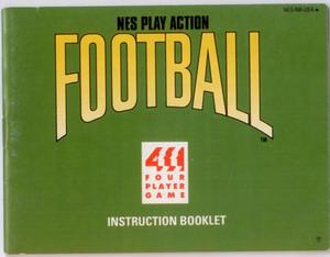 Play Action Football - NES Manual