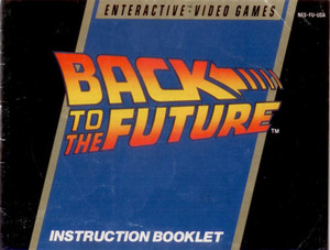 Back To the Future - NES Manual