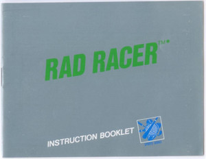 Rad Racer (Silver & Green)- NES Manual