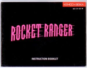 Rocket Ranger - NES Manual