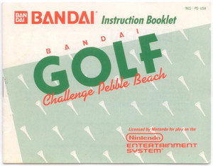 Bandai Golf Pebble Beach - NES Manual