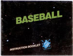 Baseball - NES Manual
