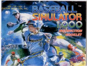 Baseball Simulator 1.000 - NES Manual