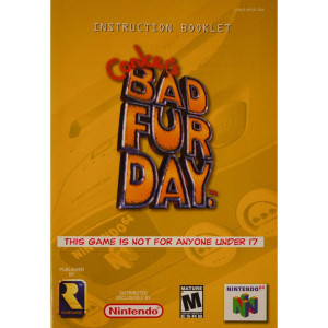 Conker's Bad Fur Day Manual For Nintendo N64