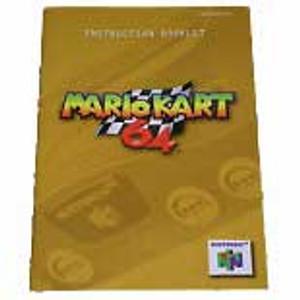 Mario Kart 64 Yellow - N64 Manual