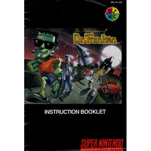 Adventures of Dr. Franken - SNES Manual