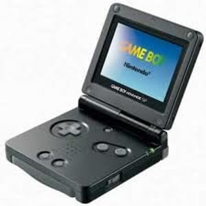Game Boy Advance SP handheld gba Nintendo system black with Charger