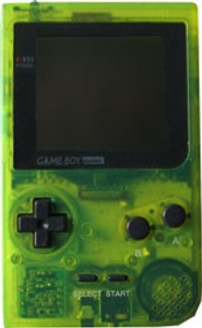 Game Boy Pocket System Clear Green