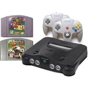 N64 system console Mario Kart game Bundle Pak for sale.